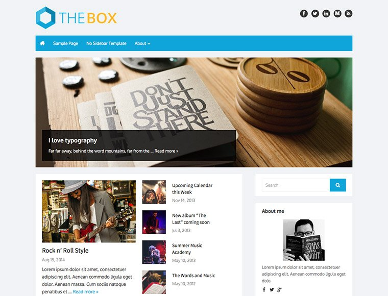 WordPress Themes - The Box Plus