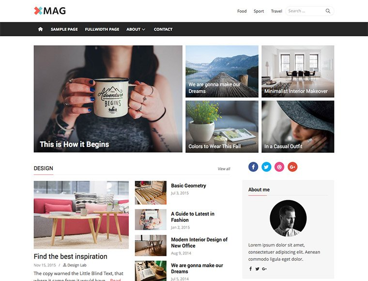 WordPress Themes - xMag plus