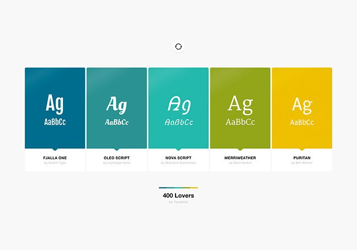 Fonts and Color Inspiration