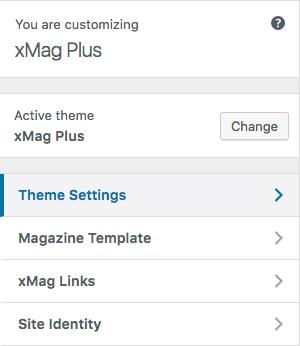 xMag documentation - Theme Settings