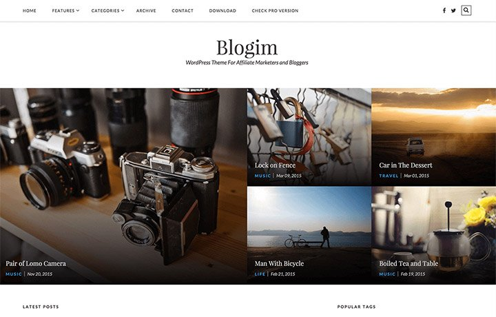 Free WordPress Themes 2016 - BlogIM