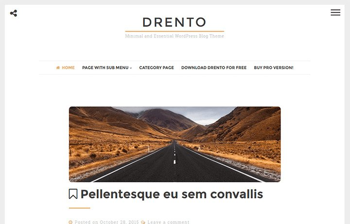 Free WordPress Themes 2016 - Drento