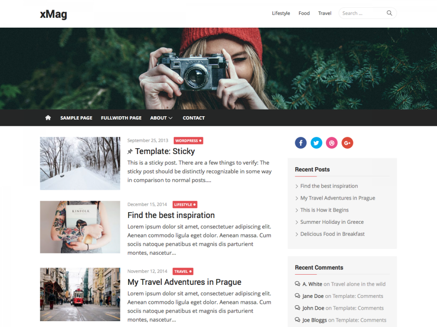 Free WordPress Themes 2016 - xMag