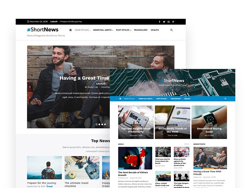 Short News Pro WordPress Theme