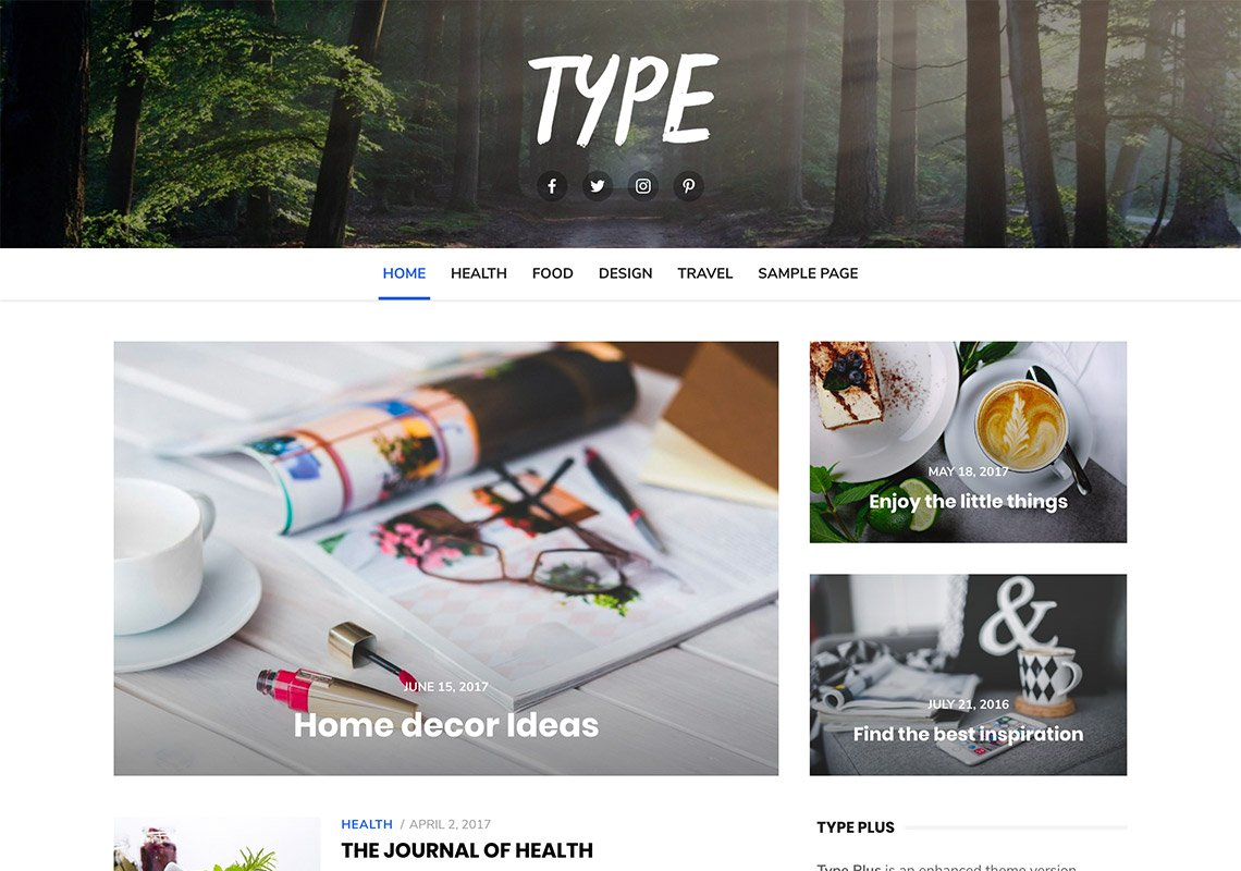 Type - Free WordPress Themes